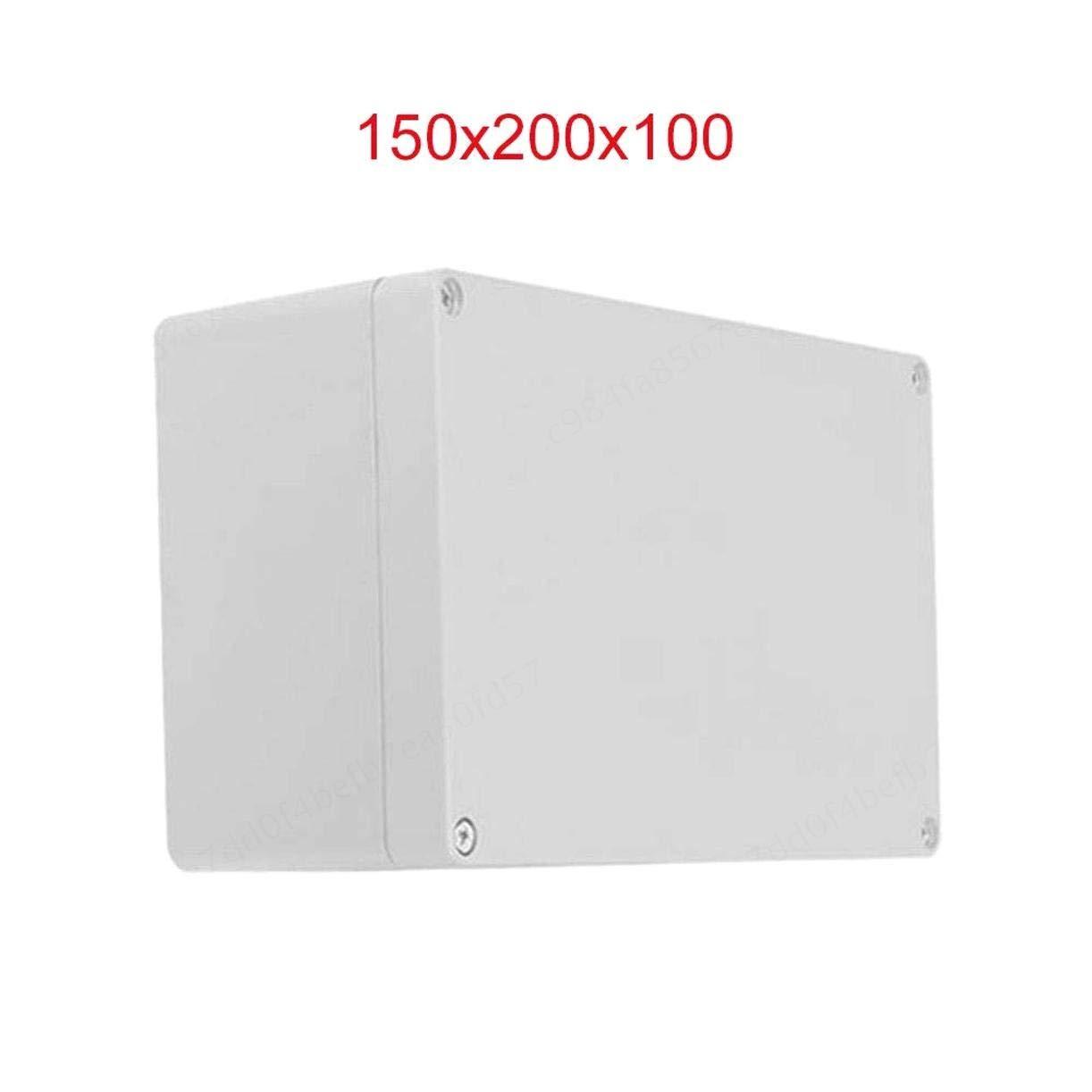 70 IP65 ABS Bianco Resistente alle intemperie allaperto 110 COMEYOU Contenitore di plastica Contenitore Esterno Scatola di Giunzione di Alimentazione Completa di connettore 80