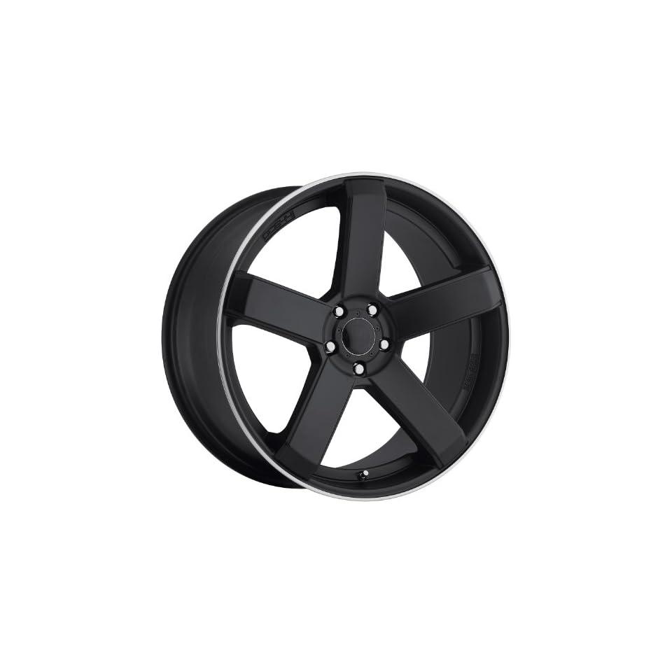 Dropstars 644B 22 Black Wheel / Rim 5x115 & 5x120 with a 20mm Offset and a 74.1 Hub Bore. Partnumber 644B 2295520