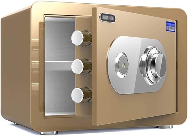 Caja fuerte ZLQ – Caja de seguridad mecánica con contraseña anticorrosión, caja fuerte contra incendios, oficina, armario de pared con diseño de caja fuerte, 30 x 38 x 30 cm: Amazon.es: Hogar
