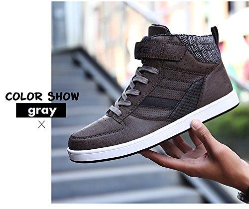 Hommes Vitike Adultes Sneakers Baskets Jeunes Unisexe En Cuir Gris HHqUr5g
