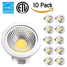 TSCDY PAR16 LED Bulb,7W (50W Equivalent) Dimmable bulbs,630 Lumen 3000K,Flood Light Bulb,CRI 80+,80 Degree Beam Angle, Medium Base (E26/E27),ETL-Listed and ENERGY STAR Qualified,Pack of 10