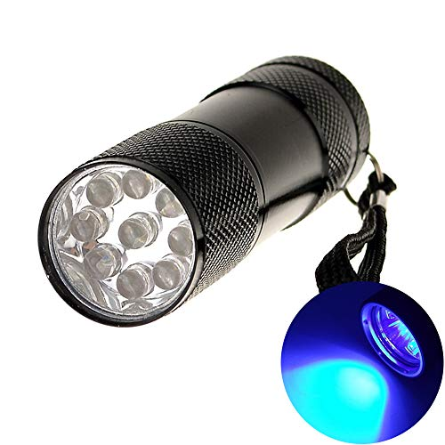 (eMart Cheap Portable Mini Led Flashlights 9 LED Bulb UV Ultra Violet Flash light Torch for Money Checking 3 x AAA Battery (Not Included))
