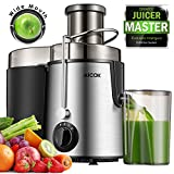 Aicok Juice Extractor Bpa Free Premium Food Grade Stainless Steel Dual Speed Setting Juicer Machine, 400W