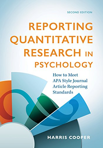 Reporting Quantitative Research In Psychology  How To Meet Apa Style Journal Article Reporting Standards