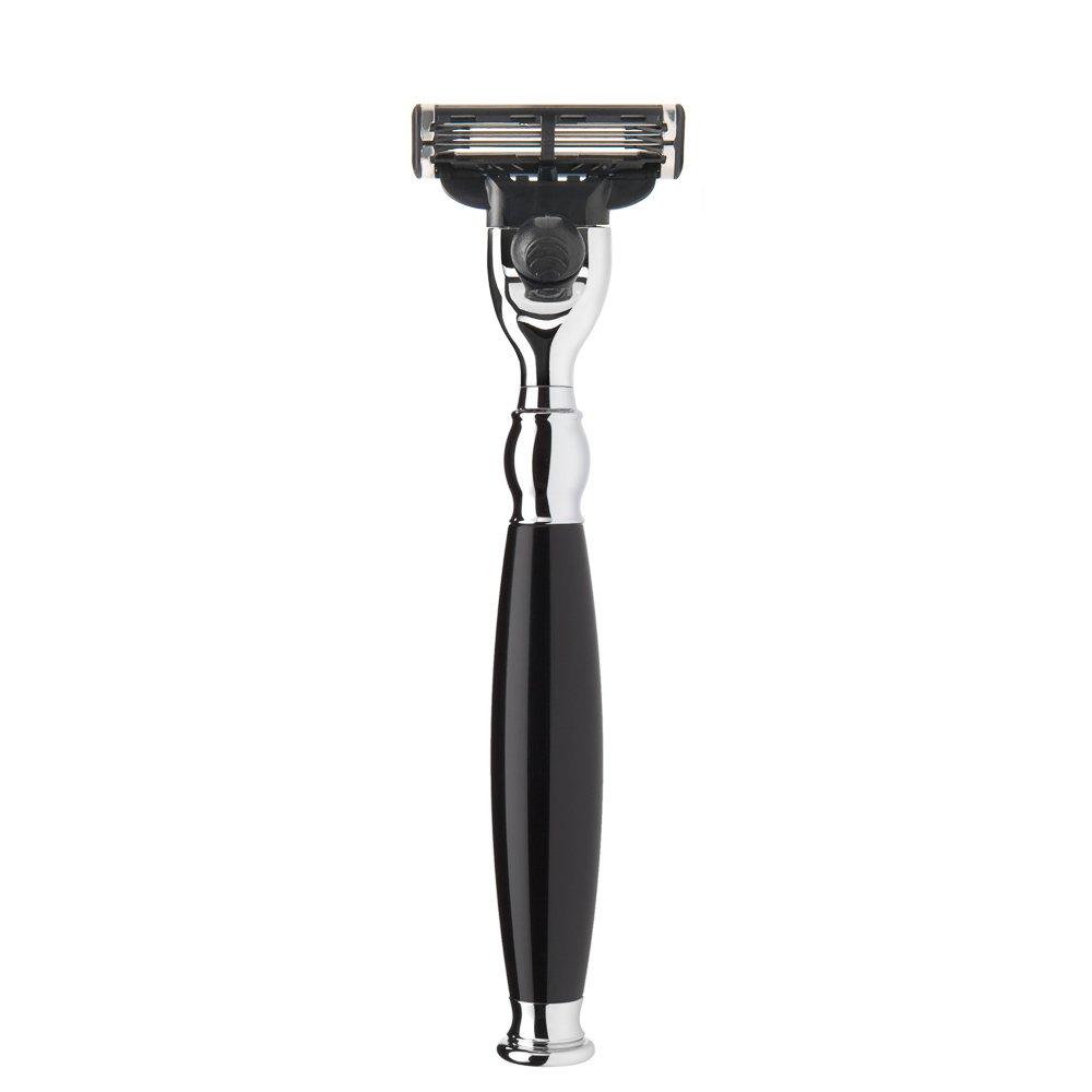 Muehle Sophist High Grade Shaving Razor (Compatible with Gillette Mach3, Resin-black)