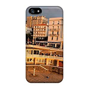 High Quality Shock Absorbing Case For Iphone 5/5s-the Famous Biarritz Sunset In Spain