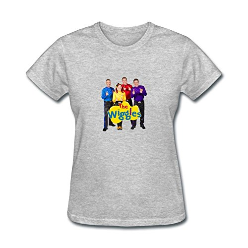 ZHENGXING Women's The Wiggles Movie Logo Short Sleeve T-Shirt S -