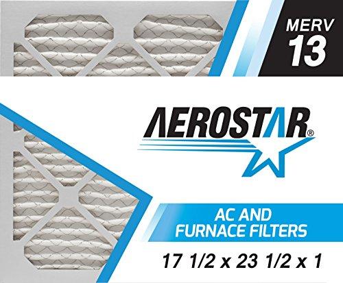 17 1/2x23 1/2x1 AC and Furnace Air Filter by Aerostar - MERV 13, Box of 6