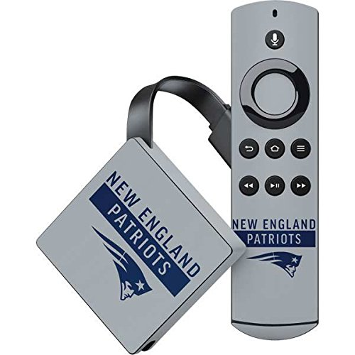 Skinit NFL New England Patriots Amazon Fire TV Skin - New England Patriots Grey Performance Series Design - Ultra Thin, Lightweight Vinyl Decal Protection by Skinit