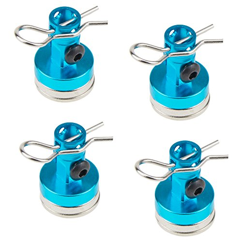 Alloy Magnetic Stealth Invisible Body Post Mount Clips Magnet for HSP Scale Drift RC Touring Car Shell Column Drift 122237 (Blue) ()