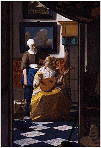 Johannes Vermeer The Love Letter Art Print Poster 13 x 19in