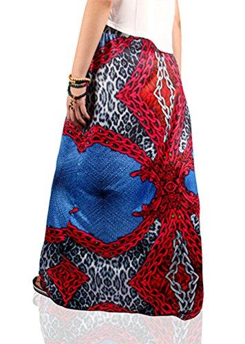 Style Imprim Floral Bohmien Jupe Maxi 8 NiSeng Femmes Rtro Longueur Jupe Et Plage Jupe H7f11xw