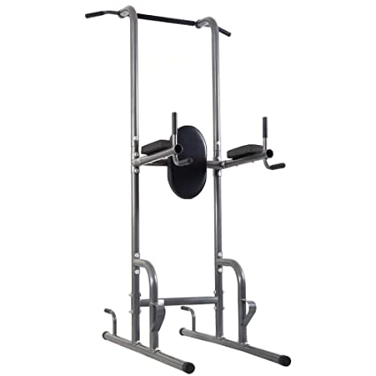 Amazon.com   Youzee Dip Station Chin Up Tower Rack Pull Up Weight ... b755bdfbe198
