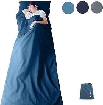 GLin, Saco de Dormir Ligero de algodón Suave, sábana de Viaje de ...