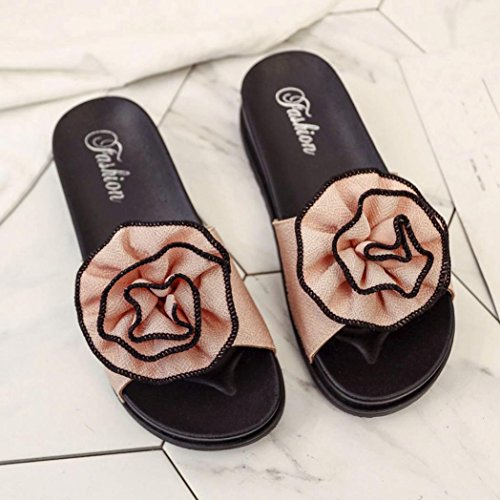 Sonnena Sandals For Women, Ladies Summer Beach Floral Platform Slippers Casual Wedge Sandals Women Shoes Pink