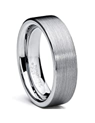 Metal Masters Co.® Tungsten Carbide Men's Brushed Wedding Band Ring Comfort Fit 6MM Sizes 5 to 15