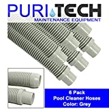 #8: Puri Tech 6 Pack Universal Pool Cleaner Hose 48