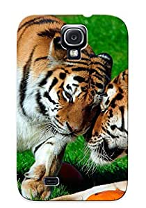 BWvIfzR6107cXuKc Cover Case - Loving Tigers Protective Case Compatibel With Galaxy S4