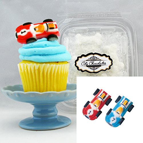 Edible Sugar Toppers / Race Cars , 6 (Nascar Race Packages)