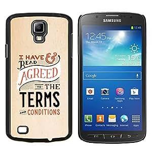"Be-Star Único Patrón Plástico Duro Fundas Cover Cubre Hard Case Cover Para Samsung i9295 Galaxy S4 Active / i537 (NOT S4) ( Términos Derecho Condiciones Abogado divertido"" )"