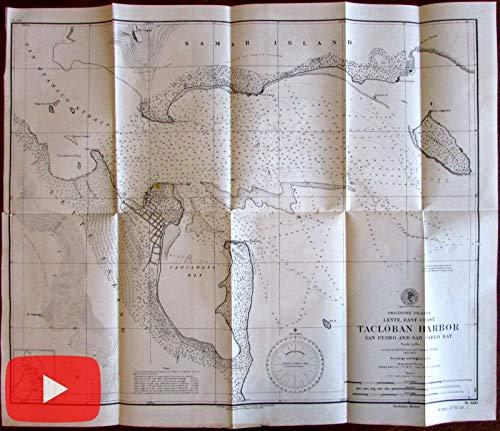 Philippine Islands Leyte Tacloban San Pedro Pablo 1902 nautical harbor chart map