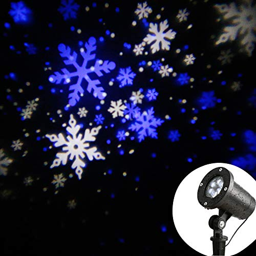 Blue And White Led Snowflake Lights in US - 8