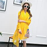 ZHANGYONG Silk Scarves Silk Scarves Sunshade Shawl Beach Towels And Air Conditioning Shawls In Summer 2 Meters Of Silk Scarves 29 Printed Silk Scarf 200Cm Birthday Present