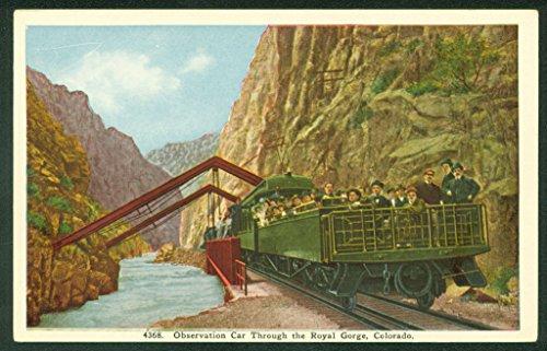 - Open Observation Car ROYAL GORGE Arkansas River Mountain Train Railroad Postcard