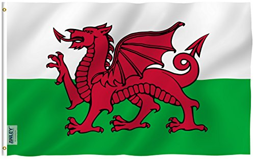 ANLEY  3x5 Foot Wales Flag - Vivid Color and UV Fade Resista