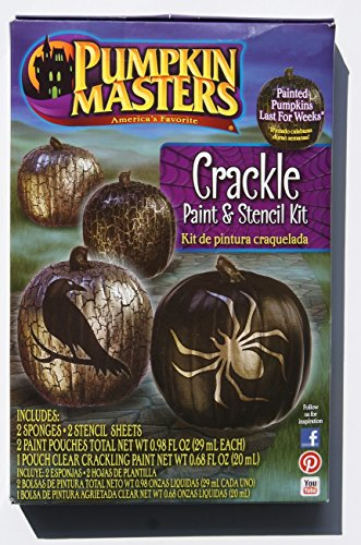 Pumpkin Masters Crackle Paint and Stencil Kit - Crow and Spider Stencils