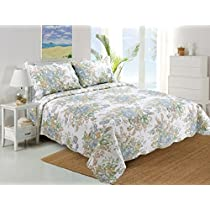 Stumix LuxuryReversible Quilt Set 3PC Set,Super Soft Bed Quilt Bedspread Bed Cover