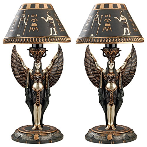 Design Toscano Isis Sculptural Table Lamp Set of Two