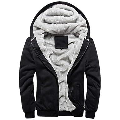 d3a979ada9c34 EQKWJ Men Winter Hoodies Jacket Fashion Thick Men s Hooded Sweatshirt Male  Sportswear Tracksuits Coat