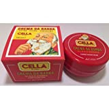 Classic Italian Cella Shave Shaving Creme Soap-150g-Hard Plastic Travel Container