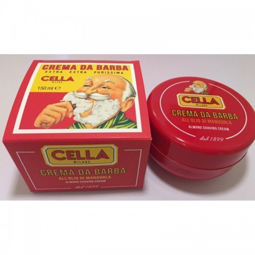 Classic Italian Cella Shave Soap Cream 150g Hard Plastic Travel Container 57061