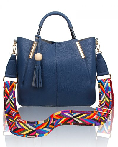 Quality Women Women's Grab Guitar Designer Aztec For Shoulder LeahWard Bags Navy Handbags Strap Bag Tote 531 Grab qtwXnCd7