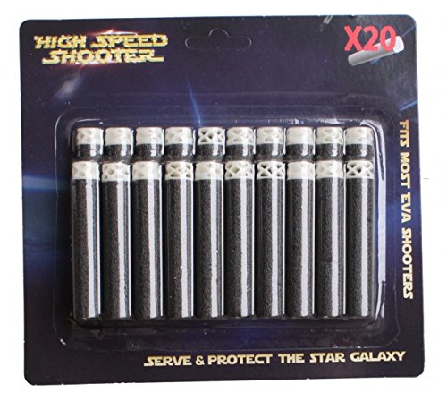 JohnToy 26060 Space & Protect Refill-Kit 20 Darts, Mehrfarbig