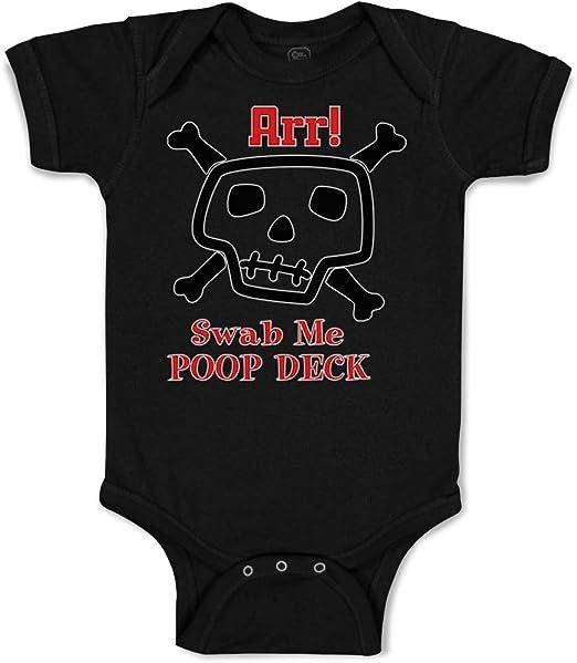Poop Deck Pirate Girl Pink Baby Bodysuit