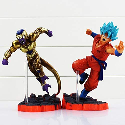PampasSK Action & Toy Figures - Dragon Ball Z Action Figures Resurrection F Super Saiyan Son Goku Golden Freeza Fighting Dragonball Z Figure Toy Doll 1 PCs (Trophy Figure Gold)