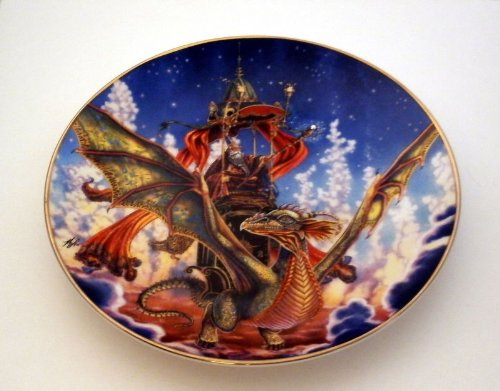 Collectables Mint Franklin - Dragon Flight Collectible Plate by Myles Pinkney from The Franklin Mint Heirloom Recommendation Royal Dalton Limited Edition Fine Bone China Plate Number RA8668
