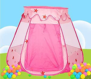 Play Tents For Girls-Pop Up Pink-Easy Fold Large Size for children Kids and Toddlers-Indoor and Outdoor. Age 1- 8 year old-Game Play Toys Tent Balls NOT ...  sc 1 st  Amazon.com & Amazon.com: Play Tents For Girls-Pop Up Pink-Easy Fold Large Size ...