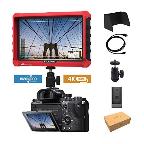 Lilliput A7S 7-inch 1920x1200 IPS Screen Camera Field Monitor 4K HDMI Input output Video For DSLR Mirrorless Camera SONY A7S II A6500 Panasonic GH5 Canon 5D Mark IV DJI Ronin M by LILLIPUT
