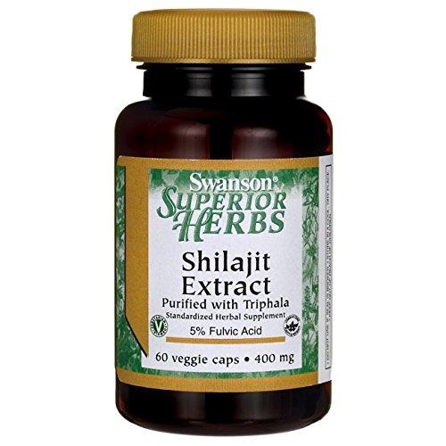 Cheap Swanson Shilajit Extract 400 Milligrams 60 Veg Capsules