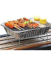 Duan Bandeja Parrilla de Barbacoa desechable, Barbacoa rápida y fácil Mini BBQ Grill Grande para cocinar Carnes Vegetales y Pescado
