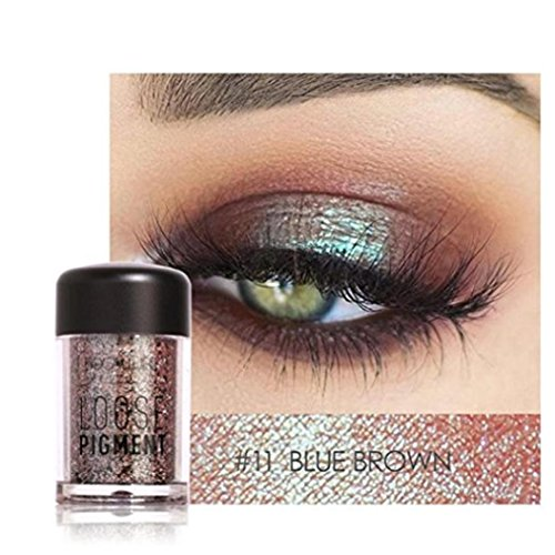 Glitter Loose Makeup Eye Shadow Dust Powder, FirstFly 12 Colors Flash Metallic Eyeshadow Palette Party Cosmetic (K)