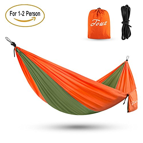 Touz-Double-2-Person-Parachute-Lightweight-Portable-Nylon-Fabric-Travel-Camping-Hiking-Hammock