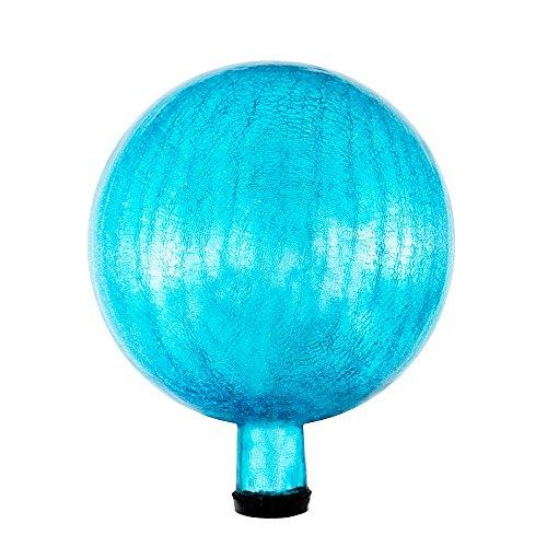 Achla Designs G10-T-C Gazing, Teal 10 inch Glass Garden Globe Ball Sphere, 10-in,