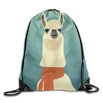 Cute Funny Llamas Gym Backpacks for Teen Kids Drawstring Bag Gym Bag Travel Backpack
