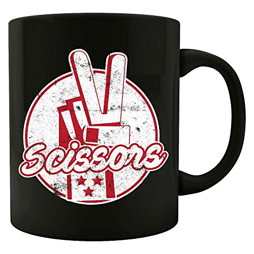 Scissor Rock Paper Scissors design Matching Halloween Costumes - Colored Mug -
