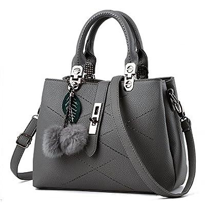 Women Handbag,Women Bag, KINGH Zip Closure Tote Vintage Shoulder Bag PU Leather 116